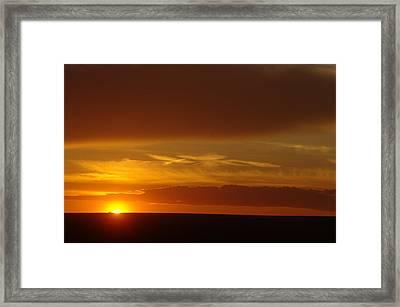 A Nice Cintemplative Sky  Framed Print by Jeff Swan
