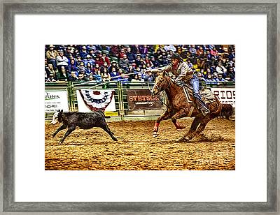 A Night At The Rodeo V10 Framed Print by Douglas Barnard
