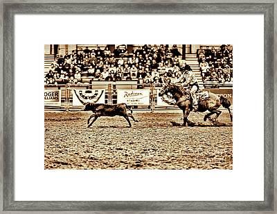 A Night At The Rodeo V11 Framed Print by Douglas Barnard