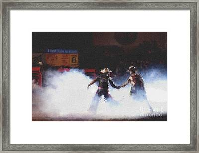 A Night At The Rodeo V3 Framed Print by Douglas Barnard