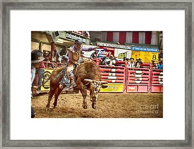 A Night At The Rodeo V5 Framed Print by Douglas Barnard