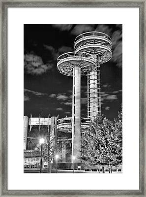 A Night In Queens Bw Framed Print by JC Findley