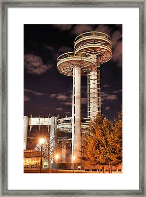A Night In Queens Framed Print by JC Findley