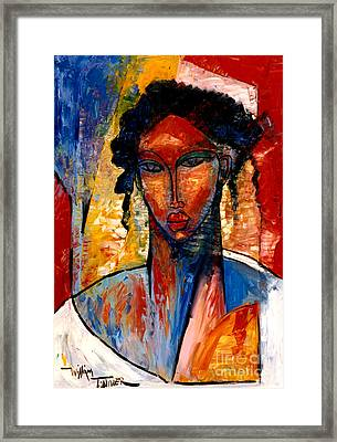 A Nubian Lady Framed Print by William Tolliver