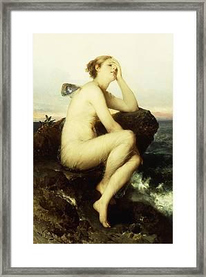 A Nymph By The Sea Framed Print by Wilhelm Kray