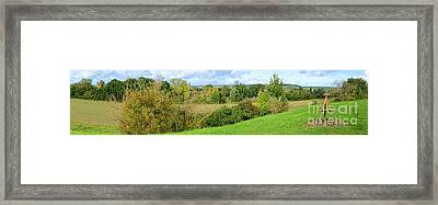 A Painter Landscape Framed Print by Olivier Le Queinec