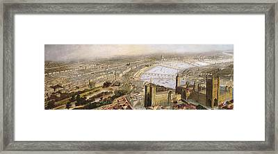 A Panoramic View Of London Framed Print by English School
