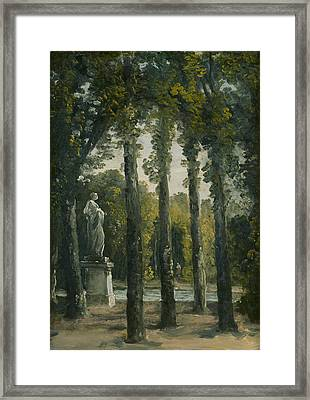 A Park Framed Print by French School