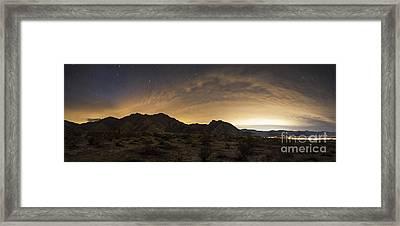 A Partly Coiudy Sky Over Borrego Framed Print by Dan Barr