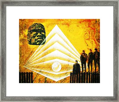 A Past And  Future Vision Framed Print by Hartmut Jager