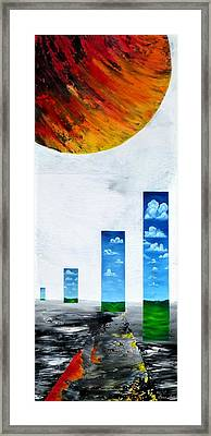 A Patchwork Of Realities Framed Print by Tara Baden