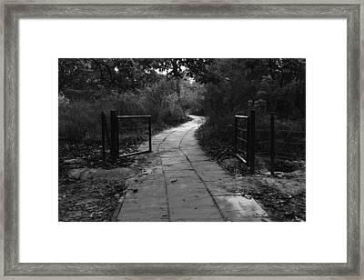 A Path And A Broken Metal Gate Framed Print by Ashish Agarwal