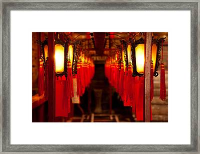 A Path Of Light And Prayers Framed Print by Loriental Photography