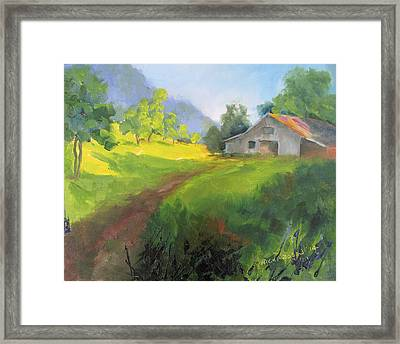 A Path Well Traveled Framed Print by Susan Richardson