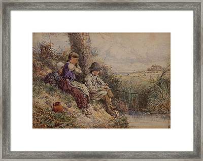 A Patient Angle Framed Print by Myles Birket Foster