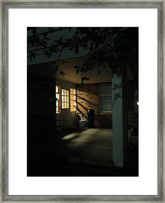 A Peaceful Corner Entrance Framed Print by Guy Ricketts