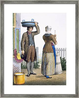A Peasant Couple Of Parmerend, North Framed Print by Bendrik Greeven