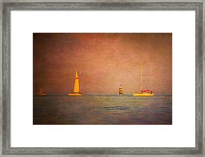 A Perfect Summer Evening Framed Print by Loriental Photography