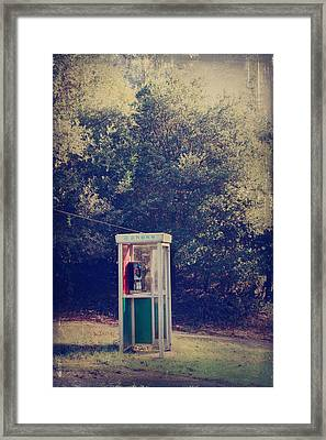 A Phone In A Booth? Framed Print by Laurie Search
