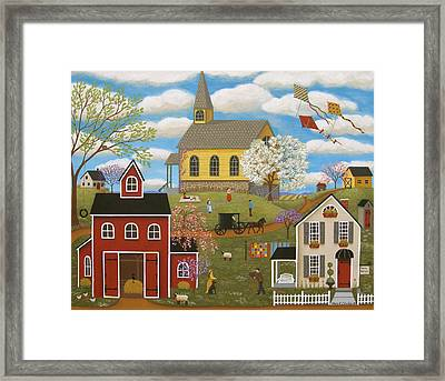 A Picture Perfect Day Framed Print by Mary Charles