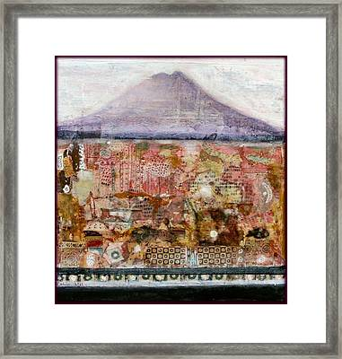A Piece Of The Mountain Framed Print by Nalini Cook