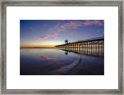 A Pink Low Tide Framed Print by Sean Foster