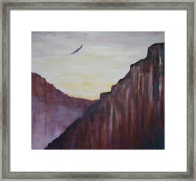 A Place To Meditate Framed Print by Kathy Peltomaa Lewis