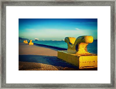 A Place To Tie Up In Hamburg Framed Print by Mountain Dreams