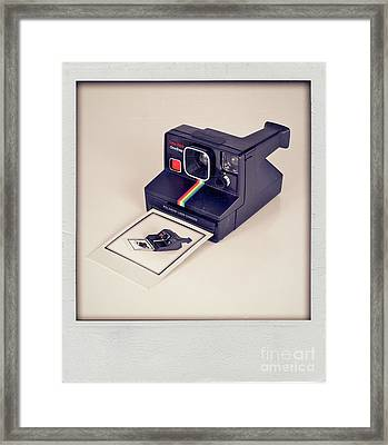 A Polaroid Of A Polaroid Taking A Polaroid Of A Polaroid Taking A Polaroid Of A Polaroid Taking A .. Framed Print by Mark Miller