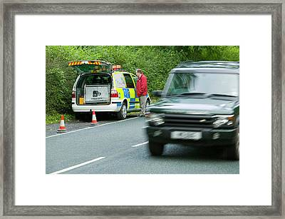 A Police Speed Camera Framed Print by Ashley Cooper