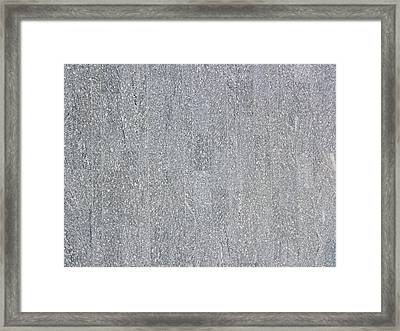 A Polished Grey Granite Wall Texture As Background Framed Print by Ammar Mas-oo-di