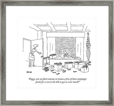 A Politician Framed Print by Jack Ziegler