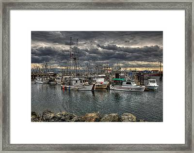 A Port In The Storm Framed Print by Randy Hall