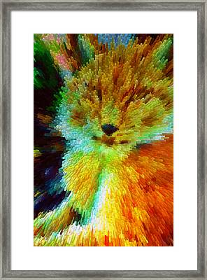 A Portrait Of A Leopard  Framed Print by Lanjee Chee