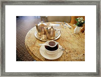 A Pot Of Tea English Style Framed Print by Ross Sharp