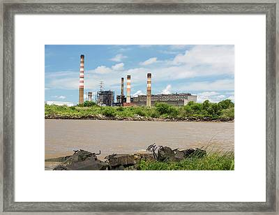 A Power Station In Buenos Aires Framed Print by Ashley Cooper