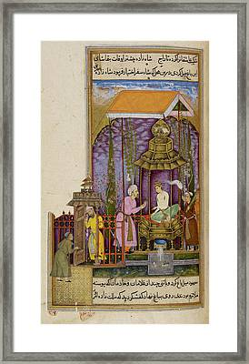 A Prince With His Kidnapper Framed Print by British Library