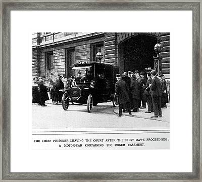 A Prisoner Leaving Court Framed Print by British Library
