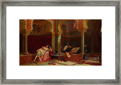 A Private Meeting Framed Print by Celestial Images