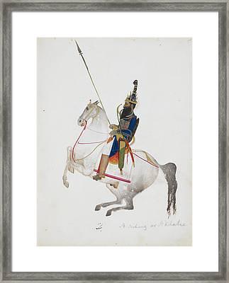 A Prosperous Akali Mounted On Horseback Framed Print by British Library