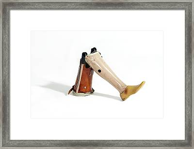 A Prosthetic Leg Framed Print by Gregory Davies