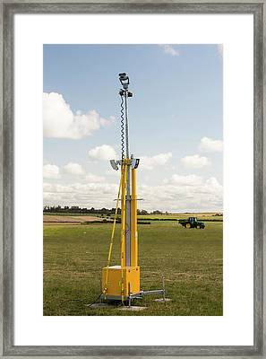 A Protest Camp Against Fracking Framed Print by Ashley Cooper