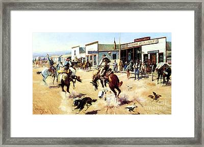 A Quiet Day In Utica Framed Print by Pg Reproductions