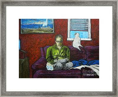 A Quiet Moment Framed Print by Reb Frost
