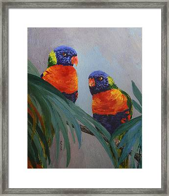 A Quiet Moment Together Framed Print by Margaret Saheed