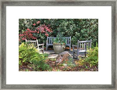 A Quiet Place To Meet Framed Print by Gordon Elwell
