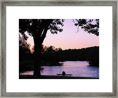 A Quiet Spot Framed Print by Jacquelyn Roberts