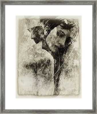 A Rainy Day We Need Closeness Framed Print by Gun Legler