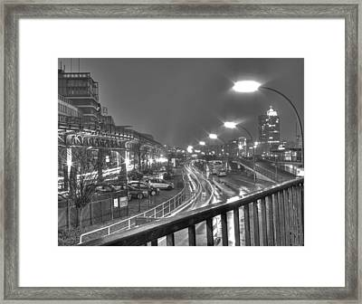 A Rainy Night In Hamburg Framed Print by Mountain Dreams
