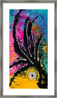 A Rare Bird - Tropical Parrot Art By Sharon Cummings Framed Print by Sharon Cummings